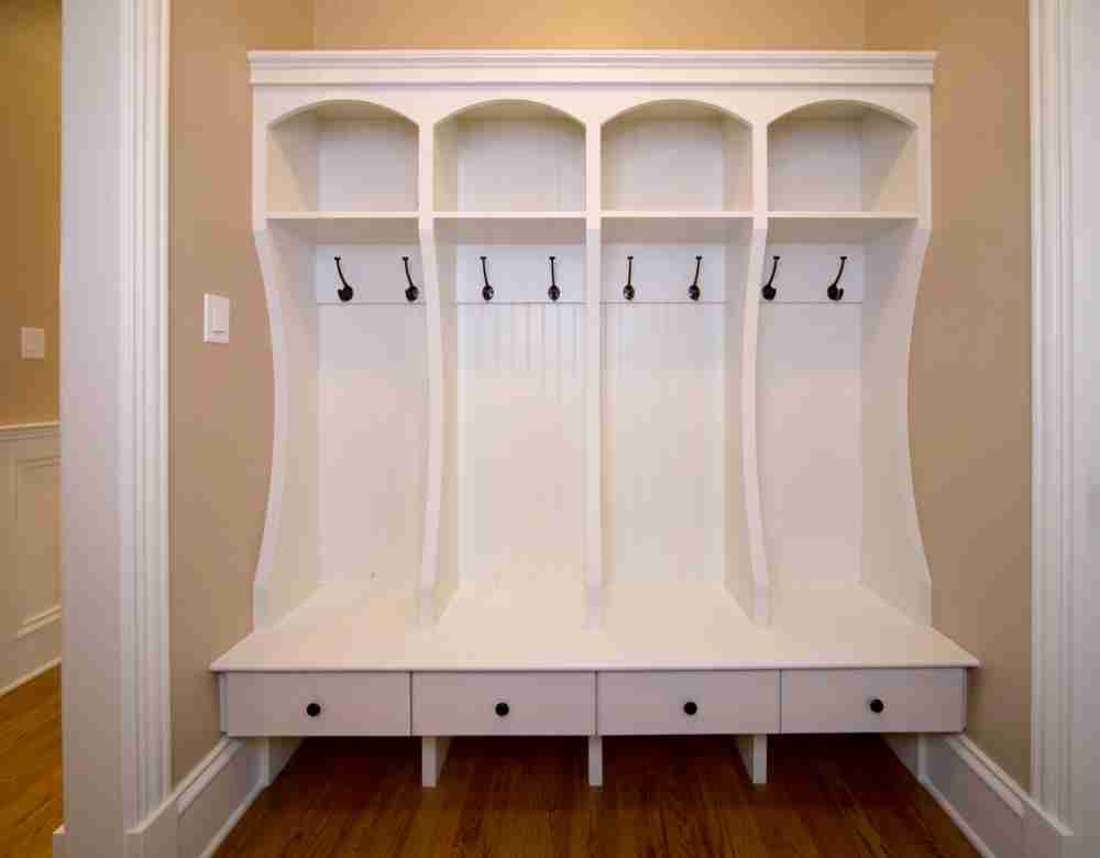 The appealing image is part of Mudroom Bench Plans You Can Use report ...