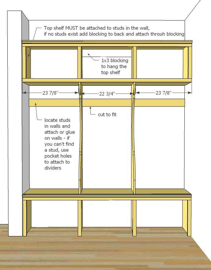 Mudroom plans designs decor ideasdecor ideas for Mudroom locker design plans