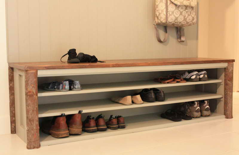 Download mudroom bench shoe storage plans plans free Entryway shoe storage bench