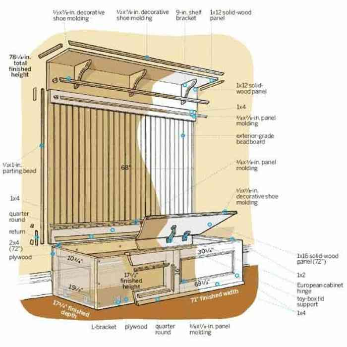 mudroom storage bench plans decor ideasdecor ideas