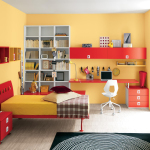 Red and Yellow Bedroom