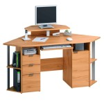 Small Corner Desk with Drawers
