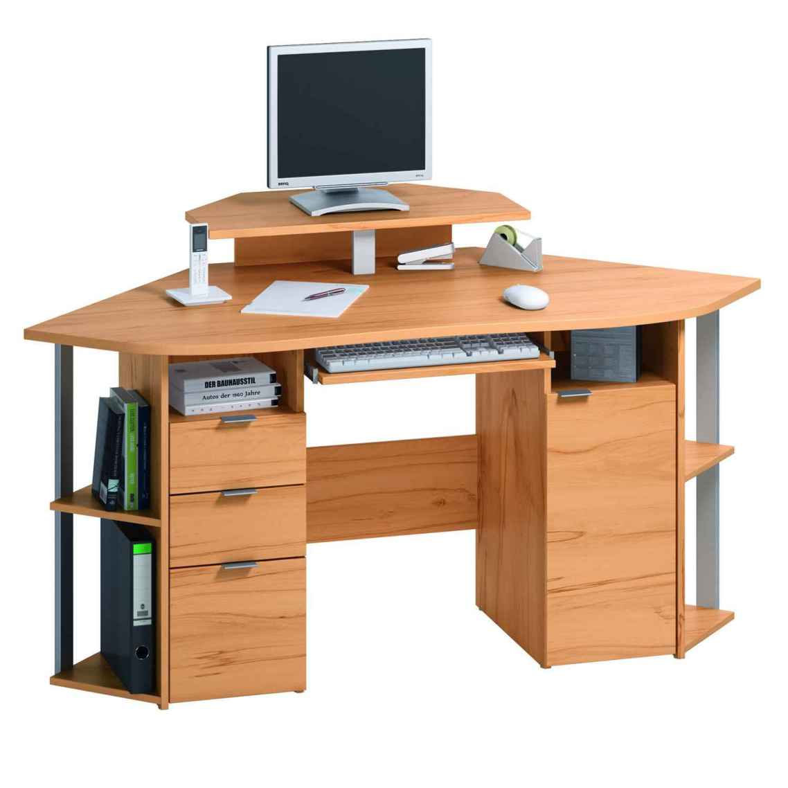 small corner desk with drawers decor ideasdecor ideas. Black Bedroom Furniture Sets. Home Design Ideas