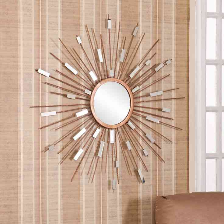 Sun mirror wall decor decor ideasdecor ideas for Mirror wall art