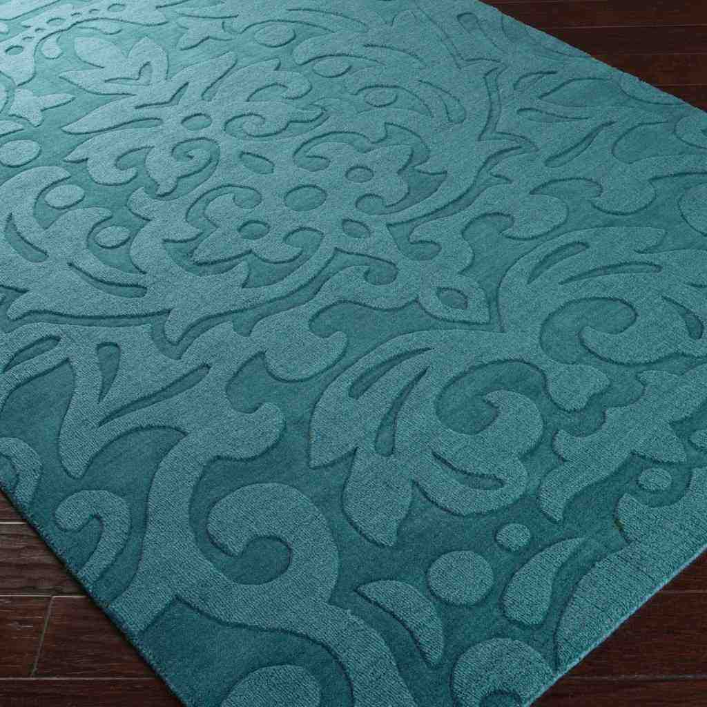 Wonderful Interior The Elegant Teal And White Area Rug: Decor IdeasDecor Ideas