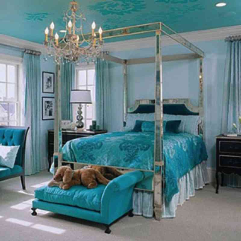 Teal bedroom decorating ideas decor ideasdecor ideas for Teal bedroom