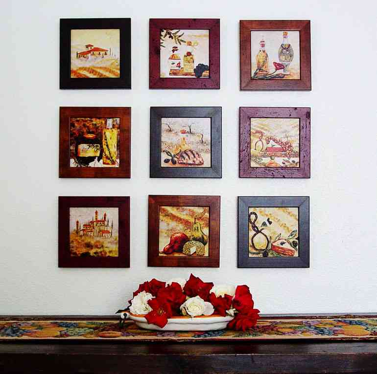 Wall decorations for kitchen decor ideasdecor ideas for Small kitchen wall art