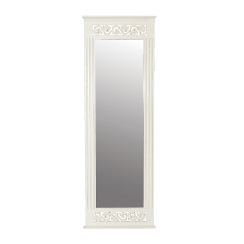 White full length wall mirror decor ideasdecor ideas for Decorative full length wall mirrors