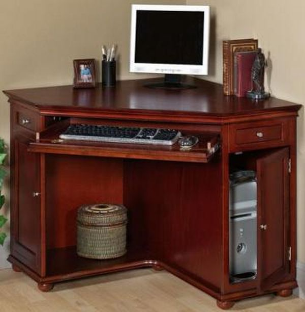 Wood Cherry Corner Desk with Hutch - Decor IdeasDecor Ideas
