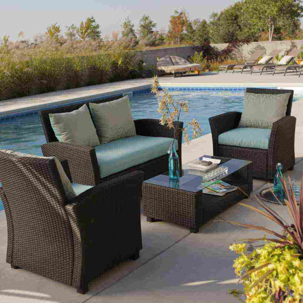 All weather wicker outdoor furniture decor ideasdecor ideas for All weather garden chairs