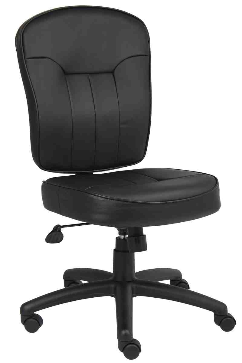 Armless leather office chair decor ideasdecor ideas for Armless office chairs