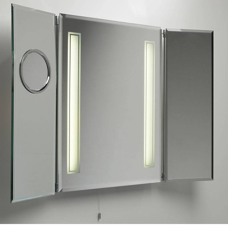 bathroom medicine cabinet with mirror and lights decor