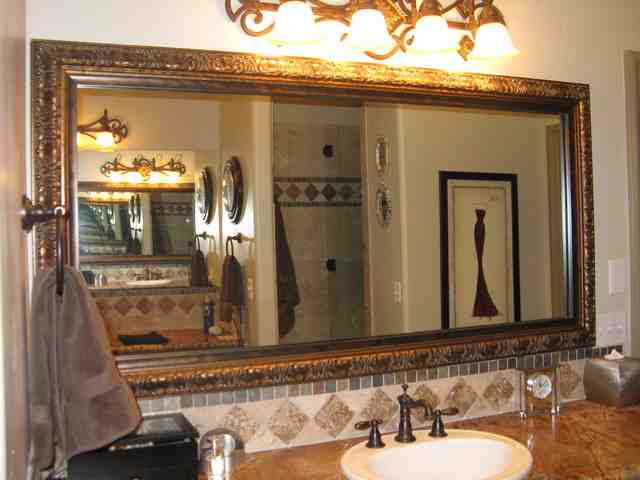 Bathroom mirror frame kit decor ideasdecor ideas Frames for bathroom wall mirrors