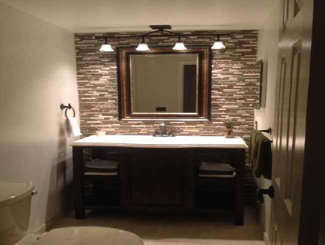 Bathroom mirror lighting ideas decor ideasdecor ideas Mirror design for small bathroom