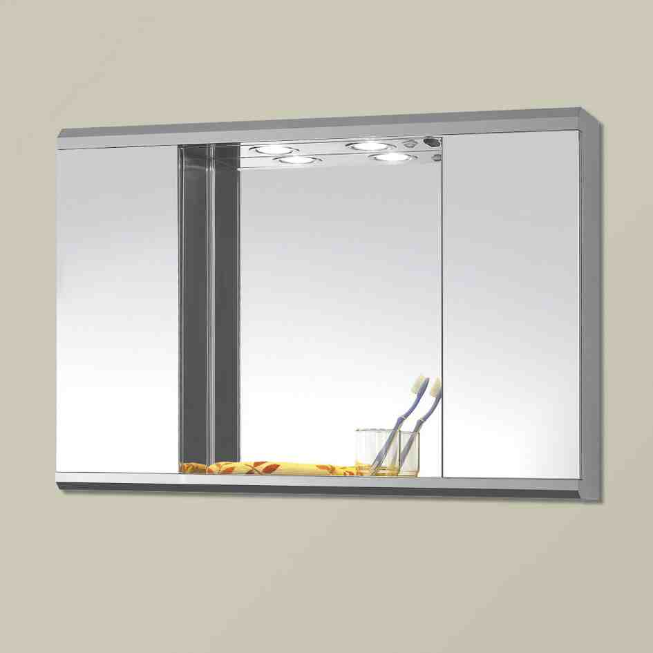 LED Vanity Lights SOLFART Crystal Wall Mirror Vanity