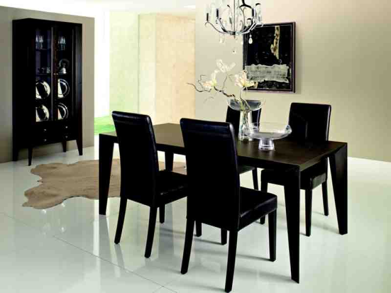 Black dining room chairs set of 4 decor ideasdecor ideas for Black dining room furniture