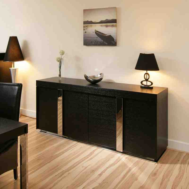 Black Sideboard Cabinet Decor IdeasDecor Ideas