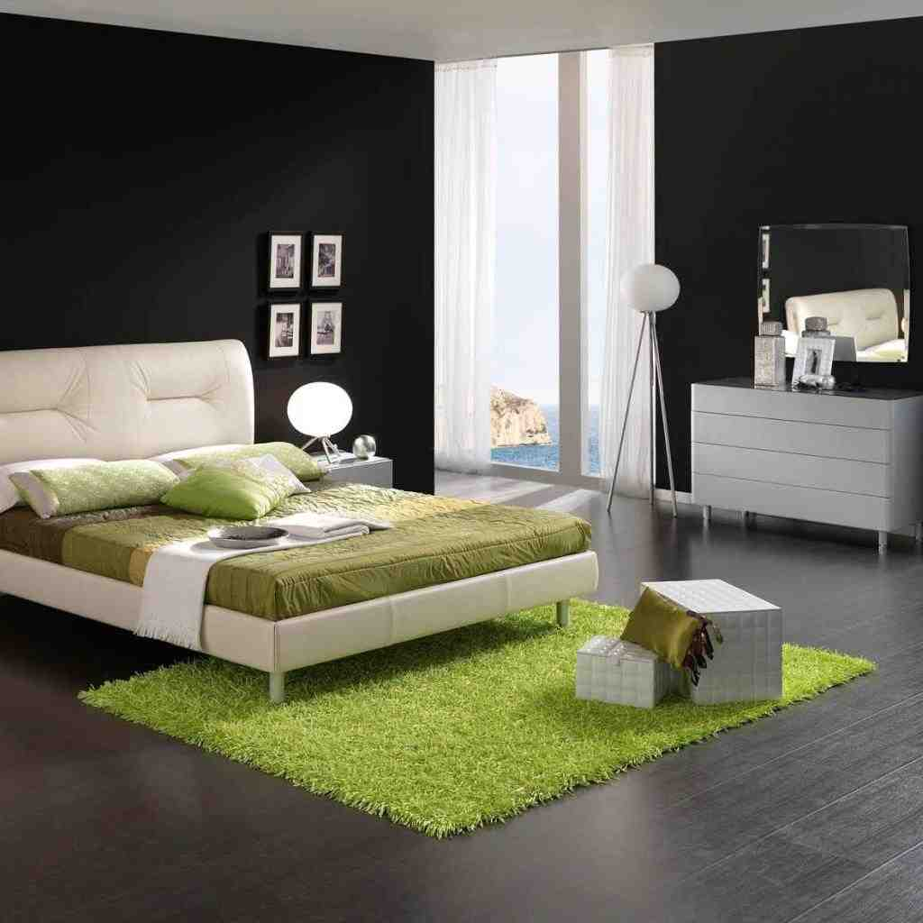 Black white and green bedroom ideas decor ideasdecor ideas for White bed interior design