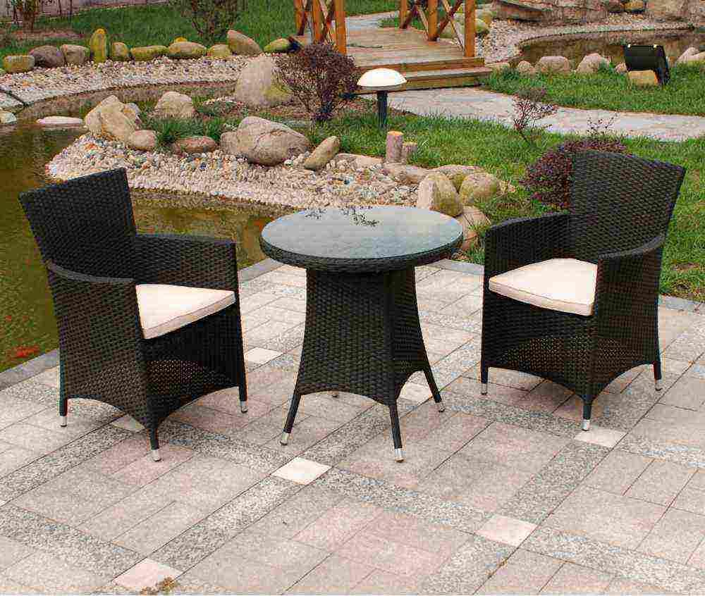 Rattan patio furniture plastic wicker outdoor furniture decor - Black Wicker Outdoor Furniture Sets Decor Ideasdecor Ideas