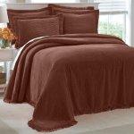 Brown Chenille Bedspread