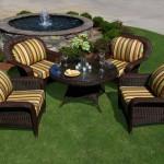 Brown Wicker Outdoor Furniture
