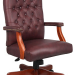 Burgundy Leather Office Chair