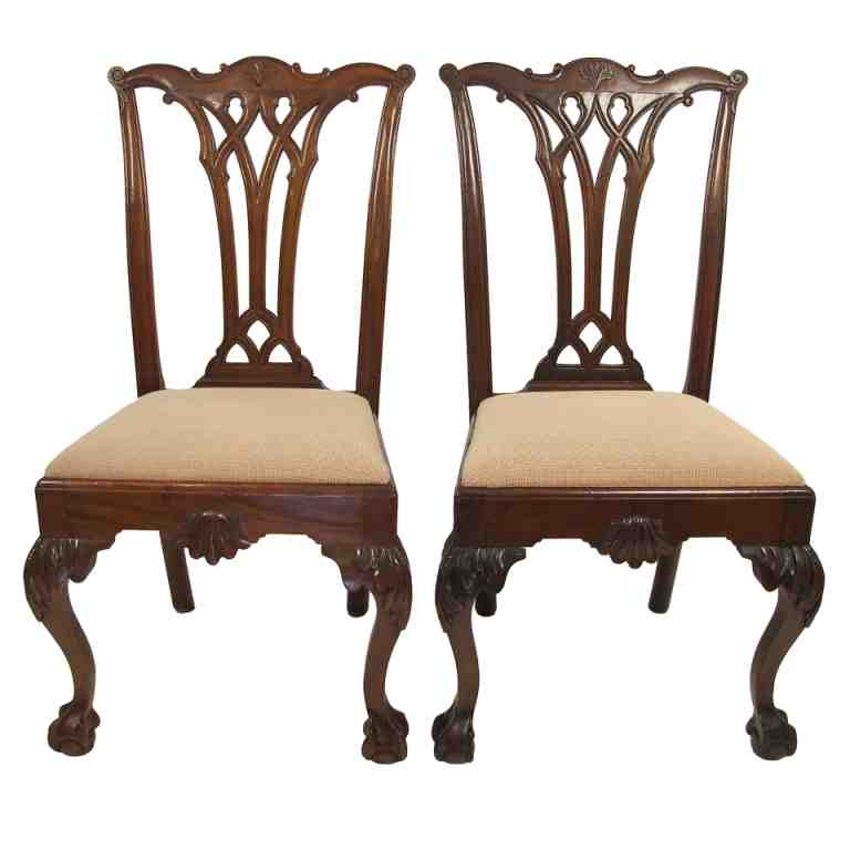 Chippendale chairs ebay images for Ebay dining room chairs