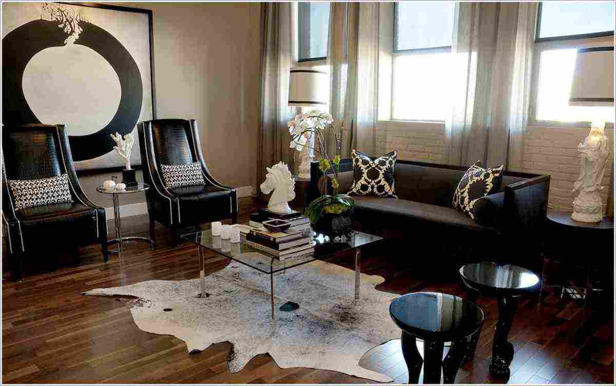Cowhide rug living room decor ideasdecor ideas for Living room rug ideas