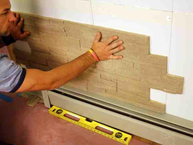 DIY Faux Stone Wall | Decor Ideas