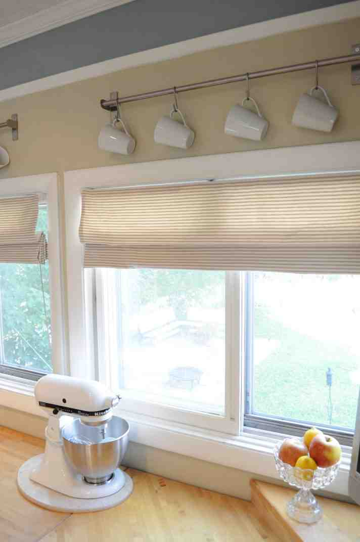 Diy kitchen window treatments joy studio design gallery for Window blinds ideas