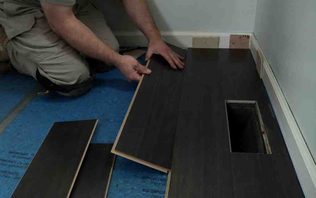DIY Laminate Wood Flooring