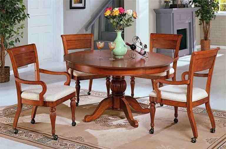 Dining Room Chairs with Wheels