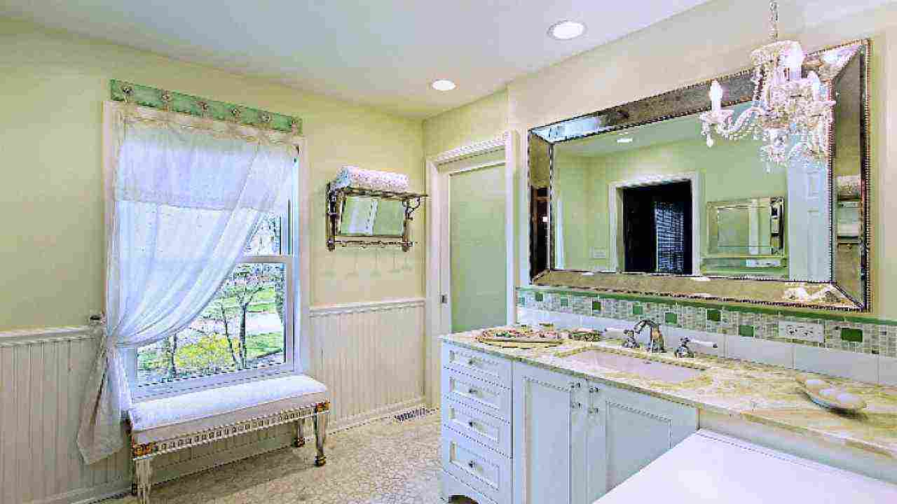 Luxury Beautiful And Elegant Mirror Frame Kits  Traditional  Bathroom