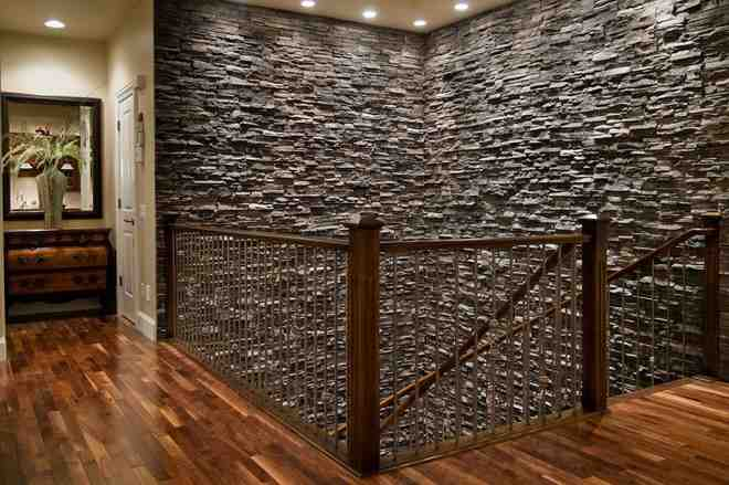 Faux stone interior wall decor ideasdecor ideas for Interior rock walls designs