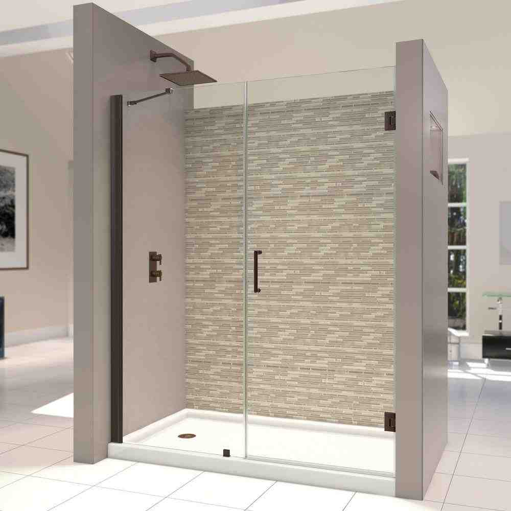 Frameless hinged glass shower door decor ideasdecor ideas for Frameless glass doors