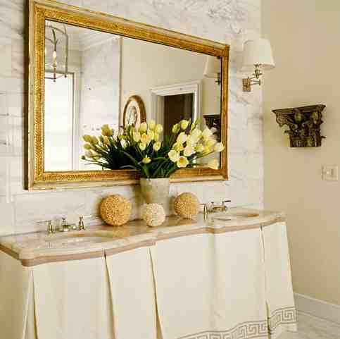 Gold Bathroom Mirror Decor Ideasdecor Ideas