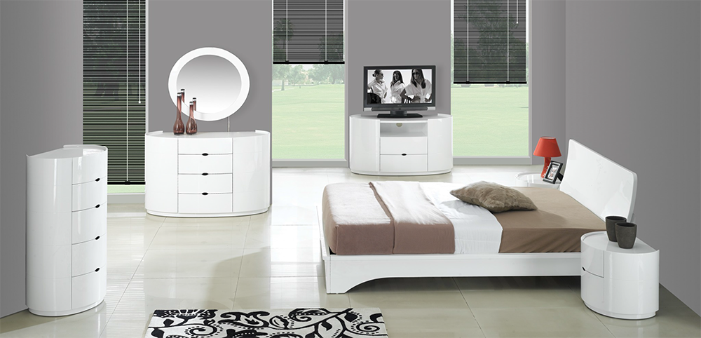 High gloss white bedroom furniture decor ideasdecor ideas for White gloss bedroom furniture