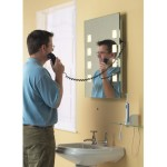 Illuminated Bathroom Mirror with Shaver Socket