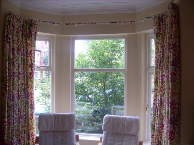 Simply Shabby Chic Curtains Storage for Bay Windows