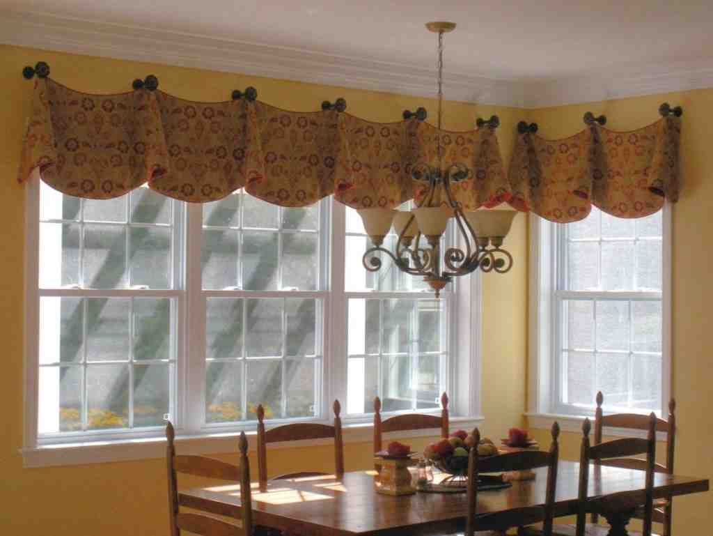 Kitchen window treatments valances decor ideasdecor ideas for Bay window treatments ideas kitchen