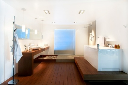 Laminate Wood Flooring in Bathroom