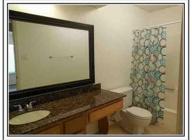 Large Brushed Nickel Bathroom Mirror