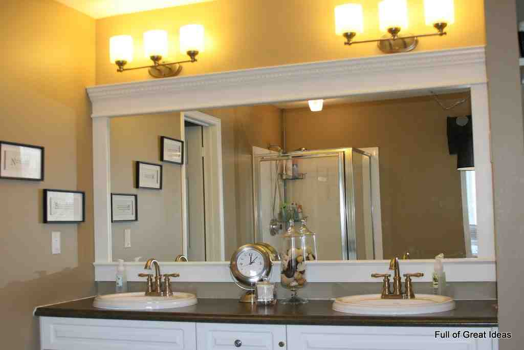 large framed bathroom mirrors decor ideas