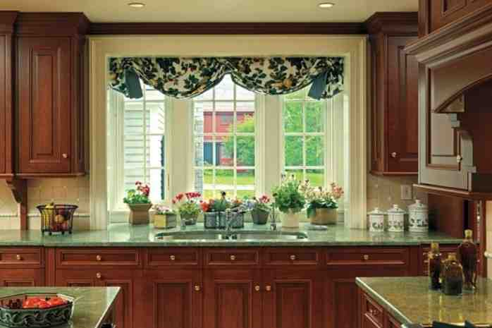 Large kitchen window treatment ideas decor ideasdecor ideas for Modern kitchen curtains ideas