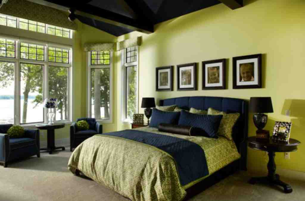 Neon green and black bedroom for Bedroom interior designs green