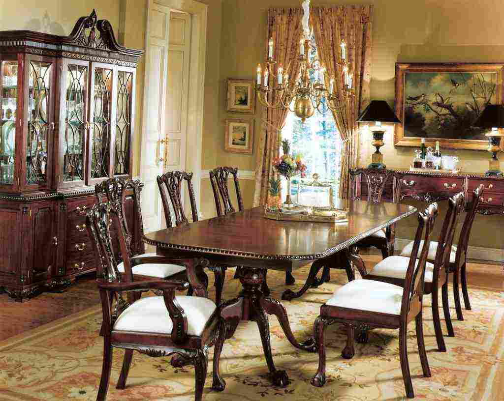 Mahogany dining room chairs decor ideasdecor ideas for Mahogany dining room furniture