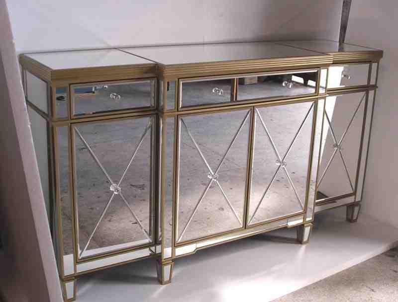 Mirrored Buffet Sideboard