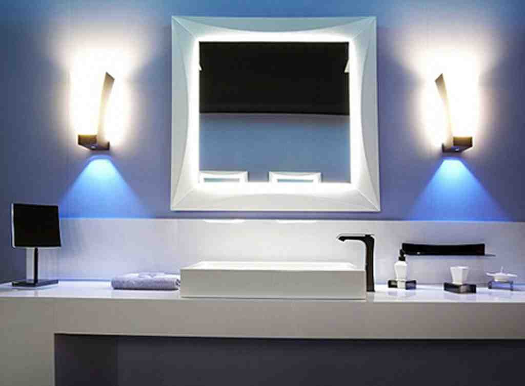 Modern bathroom mirrors with lights decor ideasdecor ideas for Modern light fixtures bathroom