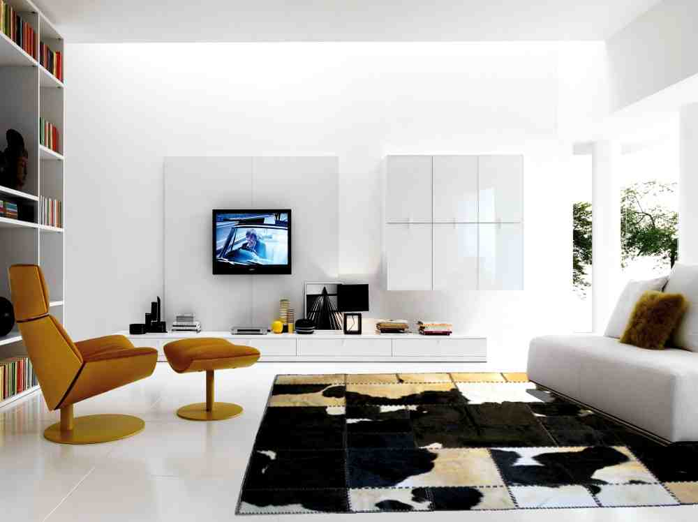 Modern rugs for living room decor ideasdecor ideas for Modern apartment living room