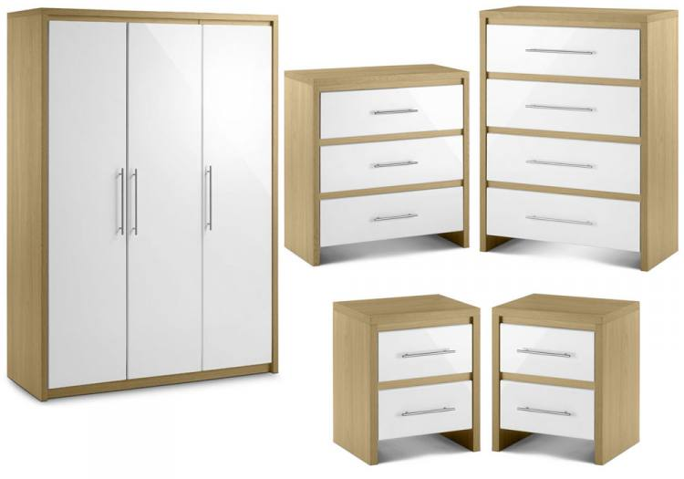 OAK and White Bedroom Furniture